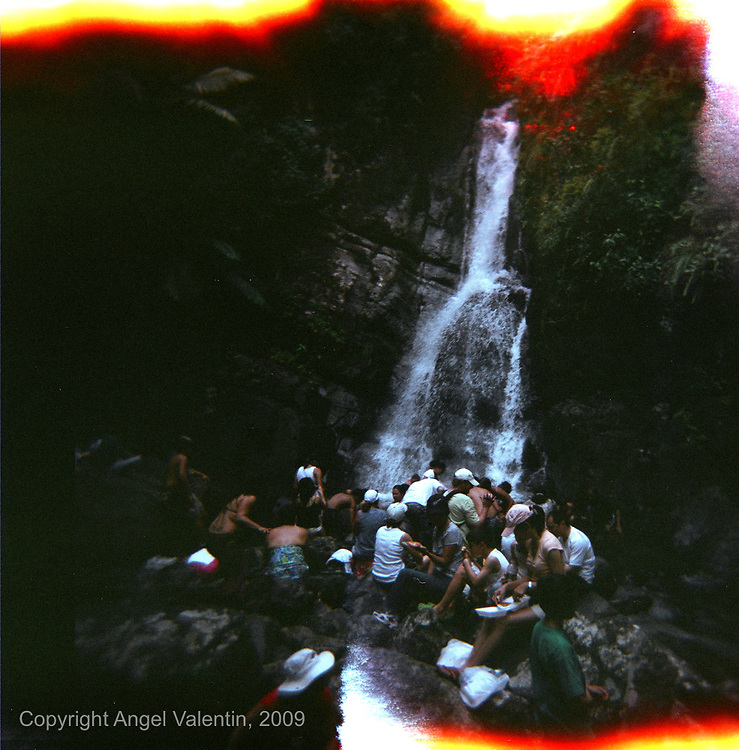 La Mina waterfall in El Yunque Rainforest in Rio Grande Puerto Rico..Photograph made using a HOLGA plastic camera..Photo/Angel Valentin