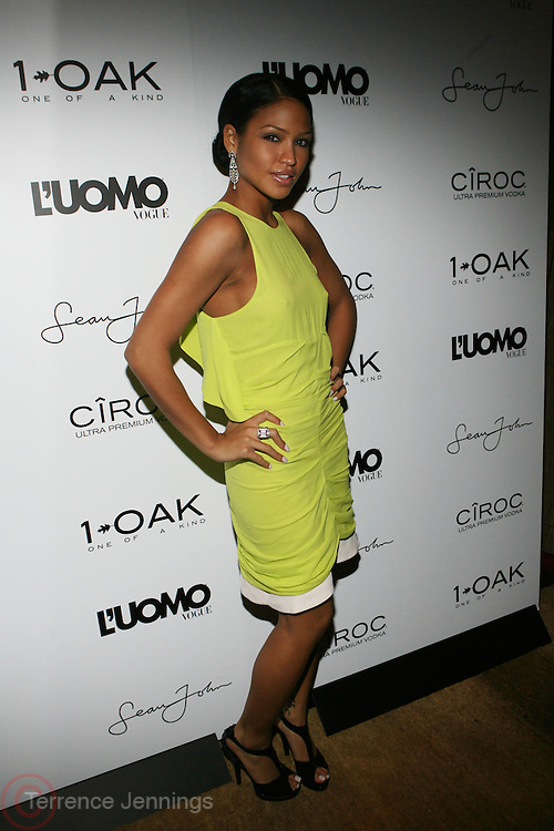 """Cassie at the cocktail party celebrating Sean """"Diddy"""" Combs appearance on the """" Black on Black """" cover of L'Uomo Vogue's October Music Issue"""