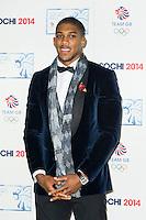Anthony Joshua , British Olympic Ball, Dorchester (Opal Room), London UK, 30 October 2013, Photo by Raimondas Kazenas