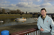2005 Varsity Boat Race - Challenge - Putney, London., ENGLAND; Cambridge Chief coach, Robin Williams, looks out over Putney Hard. This his last year as  coach to CUBC..Photo  Peter Spurrier. .email images@intersport-images...[Mandatory Credit Peter Spurrier/ Intersport Images] Varsity:Boat Race