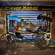 Not all rickshaw pullers sleep in dorms many sleep right on the street or even in their rickshaws.