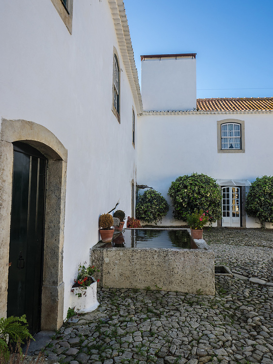 Courtyard of Tavares da Silva home