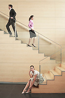 Business people on Stairway