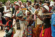 Africa. Malawi. Nkhata bay..Women and girls in traditonal dance competition..CD0010