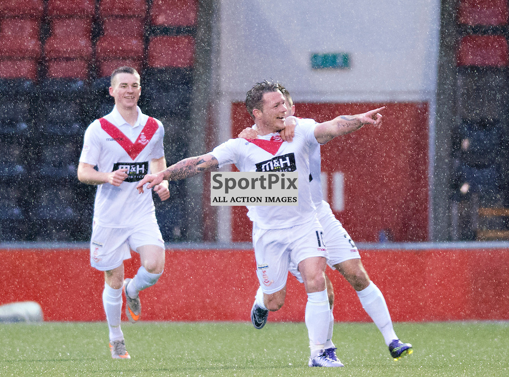 David Cox is delighted after scoring against former club Peterhead......(c) BILLY WHITE | SportPix.org.uk