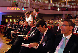 BRUSSELS, BELGIUM - AUGUST-6-2007 - .Fortis shareholders arrive for an extraordinary shareholders meeting at the Bozar Center in Brussels, Monday August 6, 2007. (Photo © Jock Fistick)