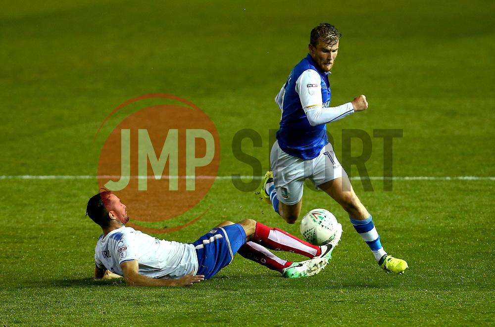 Sam Winnall of Sheffield Wednesday goes past Sam Hird of Chesterfield - Mandatory by-line: Robbie Stephenson/JMP - 08/08/2017 - FOOTBALL - Hillsborough - Sheffield, England - Sheffield Wednesday v Chesterfield - Carabao Cup