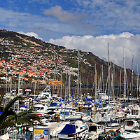 Europe, Portugal, Madeira. Boats in the harbor at Funchal, Madeira.
