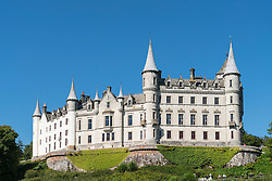 Dunrobin Castle at Golspie, Highland, Scotland. Castle is seat of the Earl of Sutherland and the Clan Sutherland; United Kingdom