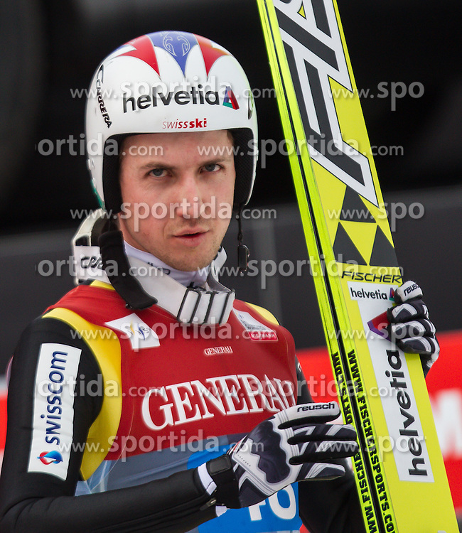 01.01.2013, Olympiaschanze, Garmisch Partenkirchen, GER, FIS Ski Sprung Weltcup, 61. Vierschanzentournee, Bewerb, im Bild Simon Ammann (SUI) // Simon Ammann of Switzerland during Competition of 61th Four Hills Tournament of FIS Ski Jumping World Cup at the Olympiaschanze, Garmisch Partenkirchen, Germany on 2013/01/01. EXPA Pictures © 2012, PhotoCredit: EXPA/ Juergen Feichter