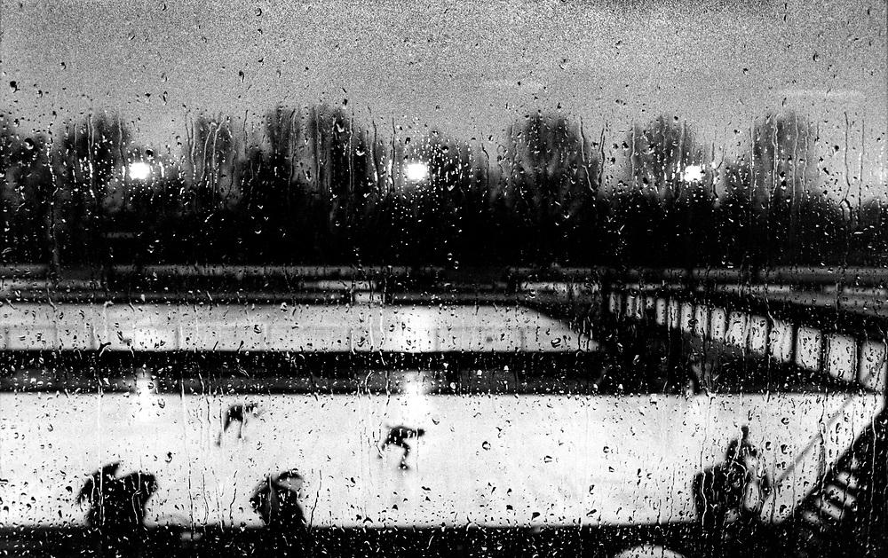Nederland, Deventer, 1990<br /> Schaatsen op buitenbaan.<br /> IJsselcup.<br /> Foto: Klaas Jan van der Weij.