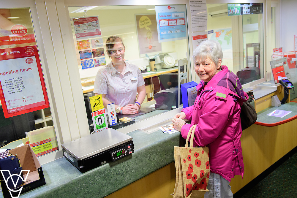 Skellingthorpe Post Office have performed particularly well over busy periods, including Christmas.  Pictured is Emily Nelson with customer Diane Cook.<br /> <br /> Picture: Chris Vaughan Photography<br /> Date: February 7, 2017