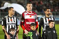 Vincent MANCEAU / Ludovic BUTELLE / Olivier AURIAC  - 26.01.2015 - Angers / Brest - 21eme journee de Ligue 2 -<br /> Photo : Vincent Michel / Icon Sport