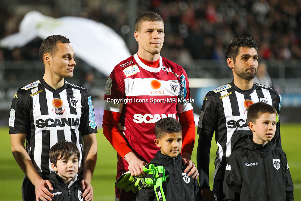 Vincent MANCEAU / Ludovic BUTELLE / Olivier AURIAC  - 26.01.2015 - Angers / Brest - 21eme journee de Ligue 2 -<br /> Photo : Vincent Michel / Icon Sport