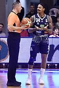 Moss David<br /> Grissin Bon Reggio Emilia - Germani Brescia<br /> Lega Basket Serie A 2018/2019<br /> Reggio Emilia, 27/01/2019<br /> Foto A.Giberti / Ciamillo - Castoria