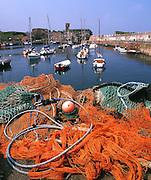 Dunbar harbour and Castle, East Lothian.