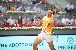 May 11, 2018 - Madrid, Madrid, Spain - RAFAEL NADAL in a match against DOMINIC THIEM during the quarter finals of Mutua Madrid Open 2018 - ATP in Madrid. DOMINIC THIEM won the match 7-5(3) 6-3. (Credit Image: © Patricia Rodrigues via ZUMA Wire)