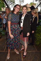 Left to right, Caroline Rush and Jenny Packham at The Ivy Chelsea Garden Summer Party, Kings Road, London, England. 14 May 2018.
