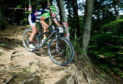 Blaza Klemencic during Cross Country XC Mountain bike race for Slovenian National Championship in Kamnik, on July 12, 2015 in Kamnik,  Slovenia. Photo by Vid Ponikvar / Sportida
