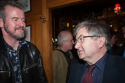 ADAM MARS-JONES; RICHARD EVANS, The Omnivore hosts the third Hatchet  Job of the Year Award. Sponsored by the Fish Society.  The Coach and Horses. Greek st. Soho. London. 11 February 2014.