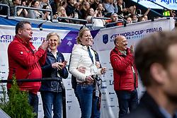 KOENLE Marc (Mannschaftstierarzt), WINTER-SCHULZE Madeleine (Pferdebesitzer), ARNS-KROGMANN Christine (Pferdebeitzer), HILBERATH Jonny (Co Bundestrainer Dressur GER), WERNDL Benjamin (GER)<br /> Göteborg - Gothenburg Horse Show 2019 <br /> FEI Dressage World Cup™ Final II<br /> Grand Prix Freestyle/Kür<br /> Longines FEI Jumping World Cup™ Final and FEI Dressage World Cup™ Final<br /> 06. April 2019<br /> © www.sportfotos-lafrentz.de/Stefan Lafrentz