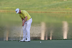 August 12, 2017 - Charlotte, North Carolina, United States - Chris Stroud putts the 17th green during the third round of the 99th PGA Championship at Quail Hollow Club. (Credit Image: © Debby Wong via ZUMA Wire)