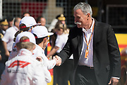 October 18-21, 2018: United States Grand Prix. Chase Carey, Chairman of the Formula One Group and grid kids.