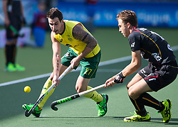 Hockey World Cup 2014<br /> The Hague, Netherlands <br /> Day 5- Men Australia v Belgium<br /> Kieran Govers<br /> <br /> Photo: Grant Treeby<br /> www.treebyimages.com.au