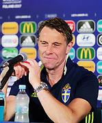 LUBLIN, POLEN 2017-06-18<br /> H&aring;kan Ericsson under Sveriges U21 landslags presskonferens p&aring; Arena Lublin den 18 juni, 2017.<br /> Foto: Nils Petter Nilsson/Ombrello<br /> Fri anv&auml;ndning f&ouml;r kunder som k&ouml;pt U21-paketet.<br /> Annars Betalbild.<br /> ***BETALBILD***