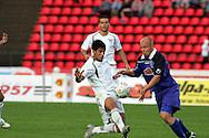 23.07.2005, Ratina, Tampere, Finland..UEFA Intertoto Cup, 3rd round, 2nd leg match.Tampere United v S.S. Lazio.Fabio Firmani (Lazio) v Ville Lehtinen (TamU).©Juha Tamminen.....ARK:k