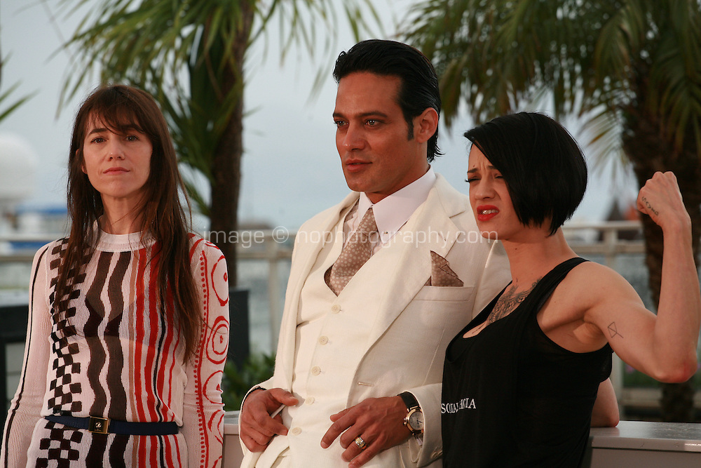 Charlotte Gainsbourg, Gabriel Garko and Giulia Salerno at the photo call for the film Misunderstood (Incompresa) at the 67th Cannes Film Festival, Thursday 22nd May 2014, Cannes, France.