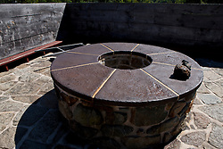 Charging Hole of the Blast Furnace, Saugus Iron Works National Historic Site, Saugus, Massachusetts, United States of America