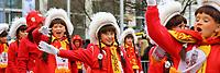 Ludwigshafen. 11.02.18 | <br /> 66. Traditioneller Fasnachtsumzug Mannheim-Ludwigshafen. Diesmal in Ludwigshafen.<br /> - Stadtgarde<br /> Bild: Markus Prosswitz 11FEB18 / masterpress (Bild ist honorarpflichtig - No Model Release!) <br /> BILD- ID 04389 |