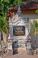 Entrance to Goa Giri Putri cave temple on the coast of Nusa Penida, Bali, Indonesia