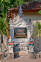 Entrance to Goa Giri Putri cave temple on the coast of Nusa Penida, Bali, Indonesia
