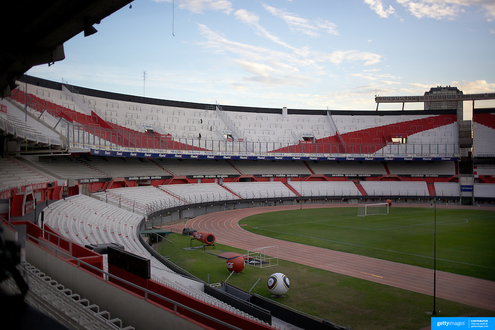 A view of River Plate stadium during a stadium tour group visit to River Plates' El Monumental stadium, Buenos Aires, Argentina, 25th June 2010. Photo Tim Clayton...