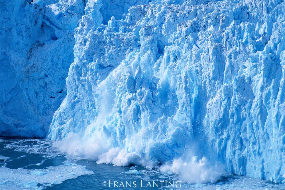 Calving front of Yahtse Glacier (aerial), Wrangell-St. Elias National Park, Alaska