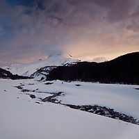 Mt. Hood and White River at Sunrise.