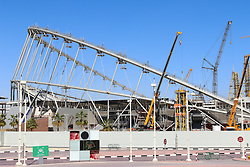26.01.2015, Doha, QAT, FIFA WM, Katar 2022, Vorberichte, im Bild die Baustelle des Khalifa International Stadium // Preview of the FIFA World Cup 2022 in Doha, Qatar on 2015/01/26. EXPA Pictures © 2015, PhotoCredit: EXPA/ Sebastian Pucher