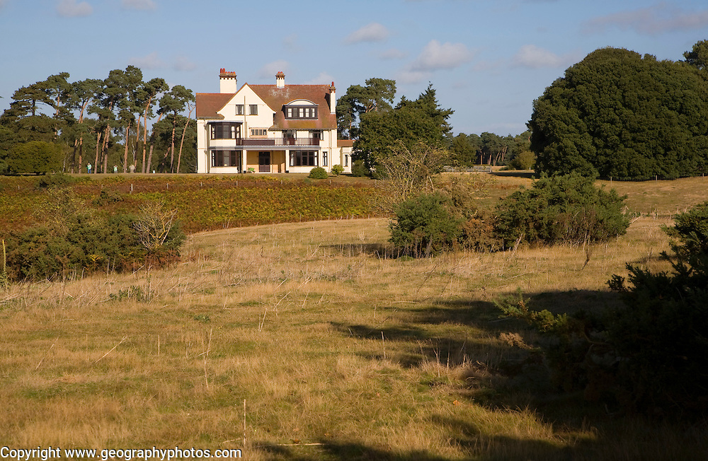 Tranmer House former home of Edith Pretty who organised the archaeological excavation at Sutton Hoo Anglo Saxon ship burial site, Suffolk, England