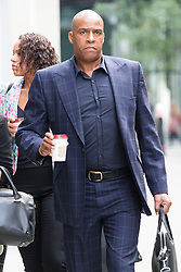 © Licensed to London News Pictures. 16/07/2015. London, UK. NEVILLE HENDRICKS arrives at the High Court today. NEVILLE HENDRICKS is in a dispute with ITV2. Photo credit : Vickie Flores/LNP