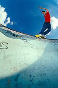 Skater, Ian Gunner, Harrow pool backside smith grind, UK 2000's