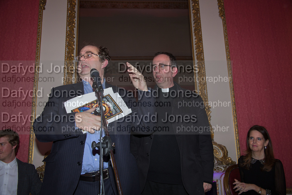 ALEXANDER WAUGH; THE REVEREND RICHARD COLES, The Literary Review Bad Sex in Fiction Award 2014. The In and Out ( Naval and Military ) Club, 4 St. James's Sq. London SW1. 3 December 2014.