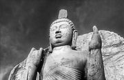 The 13 metre high Aukana Buddha statue dating from the 5th century
