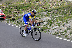 Jack Bauer (NZL) Quick-Step Floors descends the Col du Galibier during Stage 4 of the 104th edition of the Tour de France 2017, running 183km from La Mure to Serre Chevalier, France. 19th July 2017.<br /> Picture: Eoin Clarke | Cyclefile<br /> <br /> All photos usage must carry mandatory copyright credit (&copy; Cyclefile | Eoin Clarke)