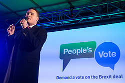 London, UK. 15th January, 2019. Wes Streeting, Labour MP for Ilford North, addresses pro-EU activists attending a People's Vote rally in Parliament Square as MPs vote in the House of Commons on Prime Minister Theresa May's proposed final Brexit withdrawal agreement.