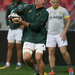 PORT ELIZABETH, SOUTH AFRICA - JUNE 27: Schalk Burger of South Africa during the South African National rugby team captains run and official team photograph at Nelson Mandela Bay Stadium on June 27, 2014 in Port Elizabeth, South Africa. (Photo by Steve Haag/Gallo Images)