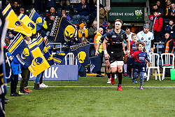 GJ van Velze of Worcester Warriors leads the side out to face Enisei-STM - Mandatory by-line: Robbie Stephenson/JMP - 11/01/2020 - RUGBY - Sixways Stadium - Worcester, England - Worcester Warriors v Enisei-STM - European Rugby Challenge Cup
