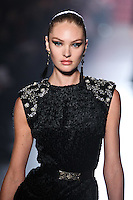 Candice Swanepoel walks down runway for F2012 Jason Wu's collection in Mercedes Benz fashion week in New York on Feb 10, 2012 NYC