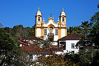 Matriz de Santo Antonio church church of the typical village of tiradentes in minas gerais state in brazil